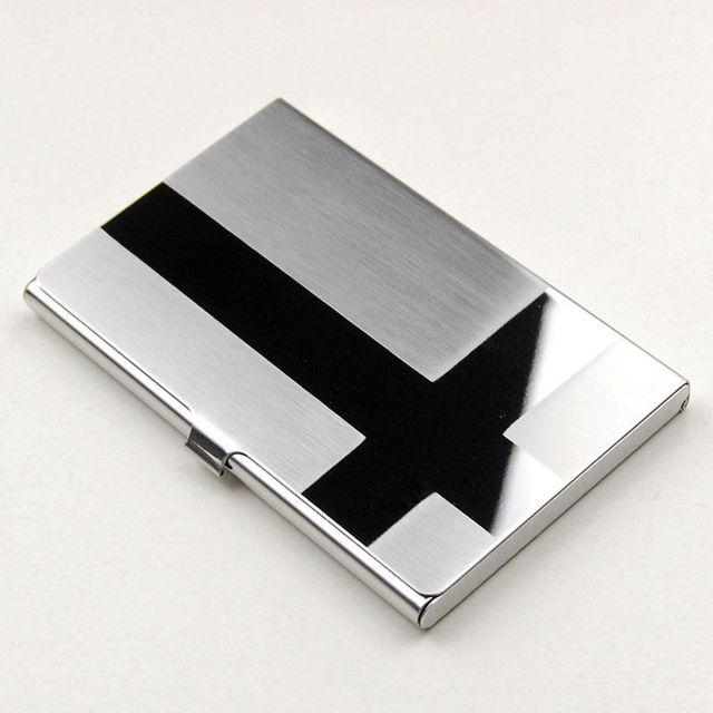 Popular Men Stainless Steel Aluminium Business Card Holder Case