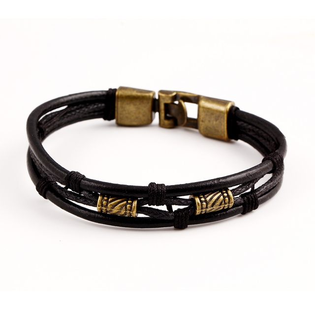 Genuine Leather Multi-Layer Bracelet