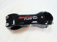 Newest QILEFU 6 17 Angle Road Carbon Bicycle Stem 31 8 80 110mm 6 17 Degrees
