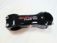 Newest QILEFU 6 17 Angle Road Carbon Bicycle Stem 31 8 80 110mm 6 17 Degrees