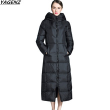 Women Jacket Winter Long Down Jacket Cotton Outerwear Thicken Warm Down Cotton-padded Jacket Plus Size Women Basic Coats YAGENZ