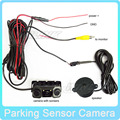 New Waterproof LED Car Reverse Parking Rearview Camera with 2 Parking Sensor Bi Bi Alarm Parking Assist System