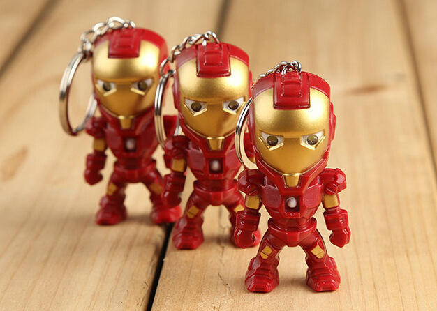 The Avengers Alliance LED Keychains,hot Movie Keychains With Sound,Hero Alliance Keyrings, Iron Man Keychains