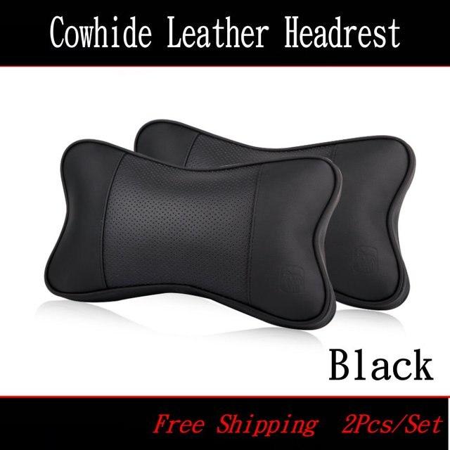Hot Selling For Alfa Romeo Car head pillow / Four seasons Seat head pillow / genuine leather Car Headrest / 3D Bone Neck Pillow