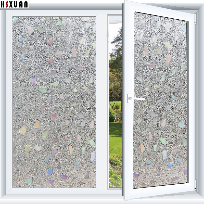 stone decorative window film 45x100cm Frosted pvc translucent removable tint film static window stickers Hsxuan brand 458002