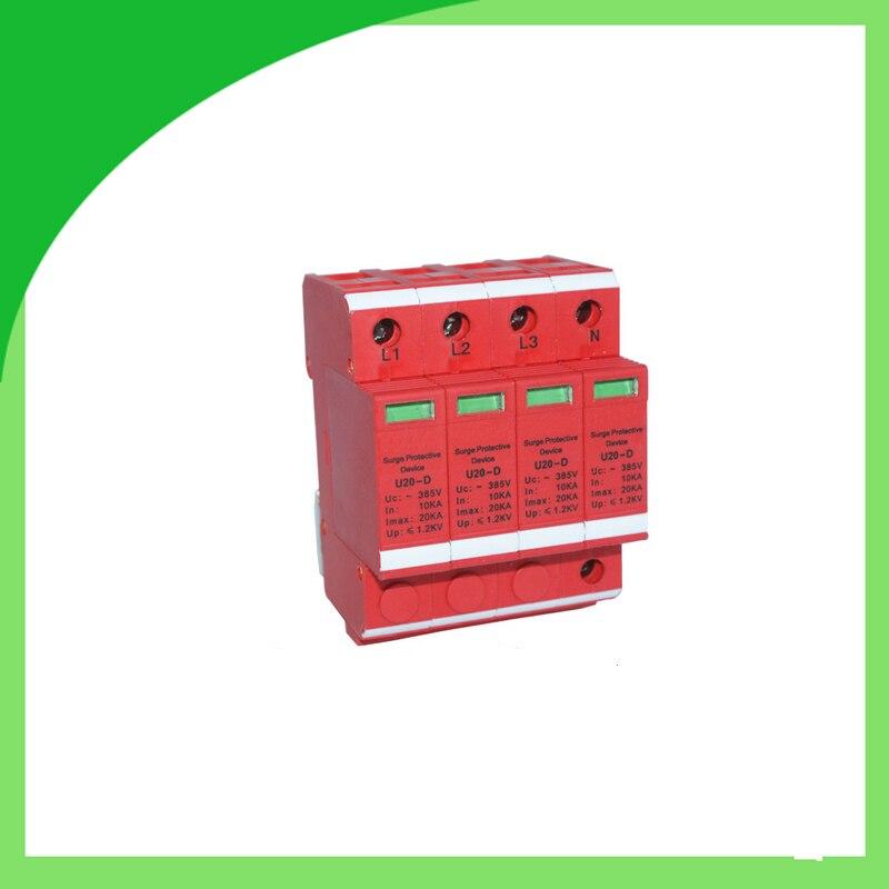 U20-D 385V 20ka 4pole Surge Protective Device with Remote Signaling Interface