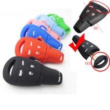 Sıcak satış silikon kauçuk araba anahtar kapağı kılıfı Fob Fit SAAB 9 3 9 5 93 95 uzaktan anahtar 4 düğmeler silika jel kapak