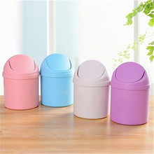 Mini Multifunction Desktop Garbage Basket Home Table Trash Can Dustbin Container