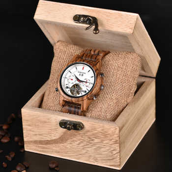 BOBO BIRD Automatic Skeleton Mechanical Watches Men Wooden Luxury Watch Self Wind relógio masculino automatic