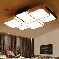 New Cube LED Retangular Sala de estar Quarto Luz de Teto Moderno Simples Estudo Acrílico luzes de Teto AC90-260V