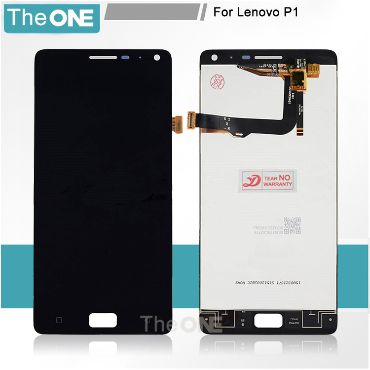 Black/White/Gold For Lenovo Vibe P1 LCD Screen Display Touch Digitizer Screen Assembly For Lenovo P1 Free Shipping+Tracking No. vibe x2 lcd display touch screen panel with frame digitizer accessories for lenovo vibe x2 smartphone white free shipping track