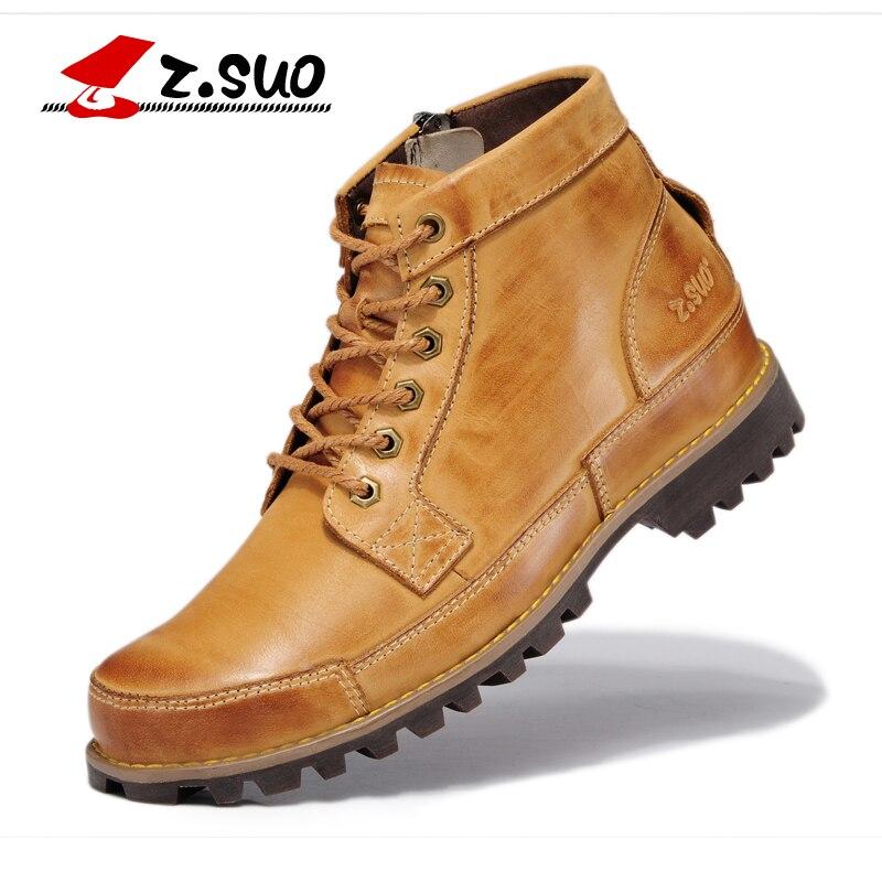 2017 automne hommes chaussures en cuir véritable bottes de travail chaussures de montagne Vintage Oxford chaussures de randonnée de haute qualité taille: 39-44