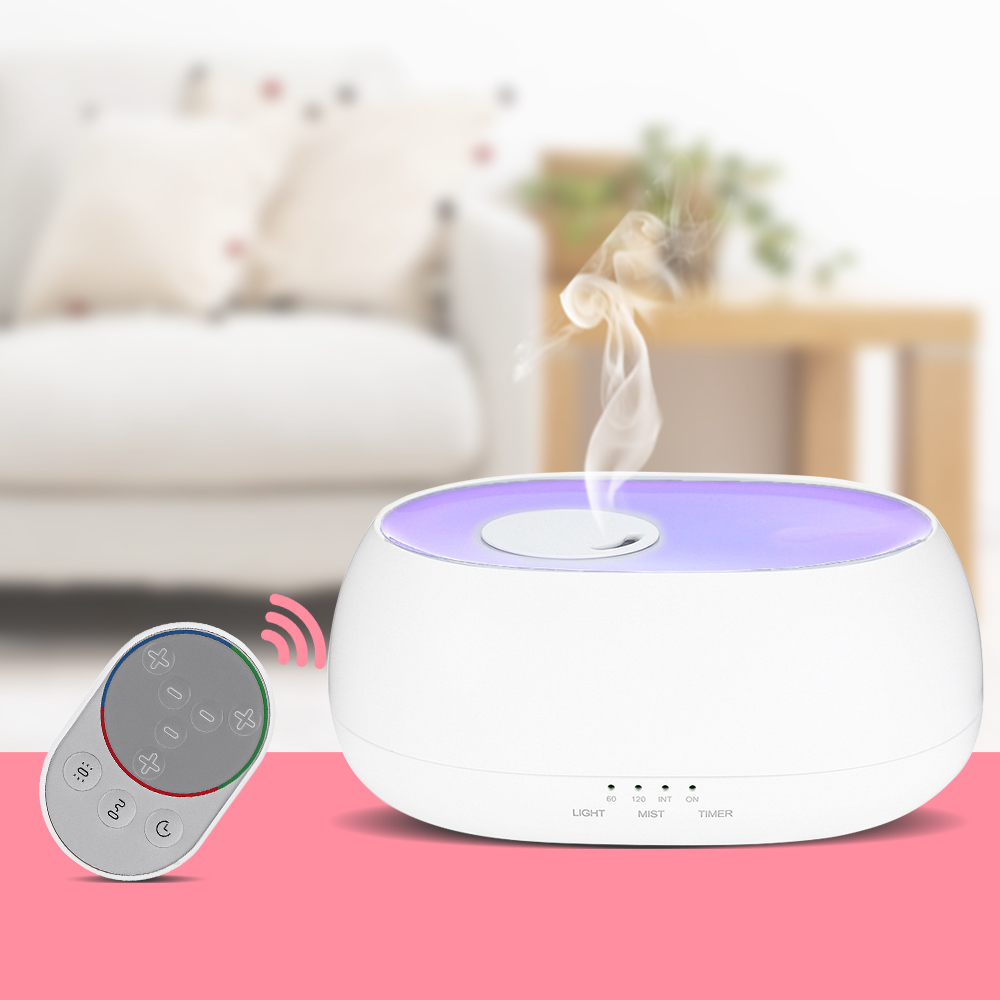 Fimei 500ml Air Humidifier Remote Control Ocean Mist Wood Grain Electric Aroma Diffuser Night Light Oil Diffuser Aromatherapy