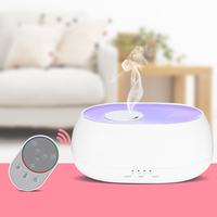 Fimei 500ml Air Humidifier Remote Control Ocean Mist Wood Grain Electric Aroma Diffuser Night Light Oil