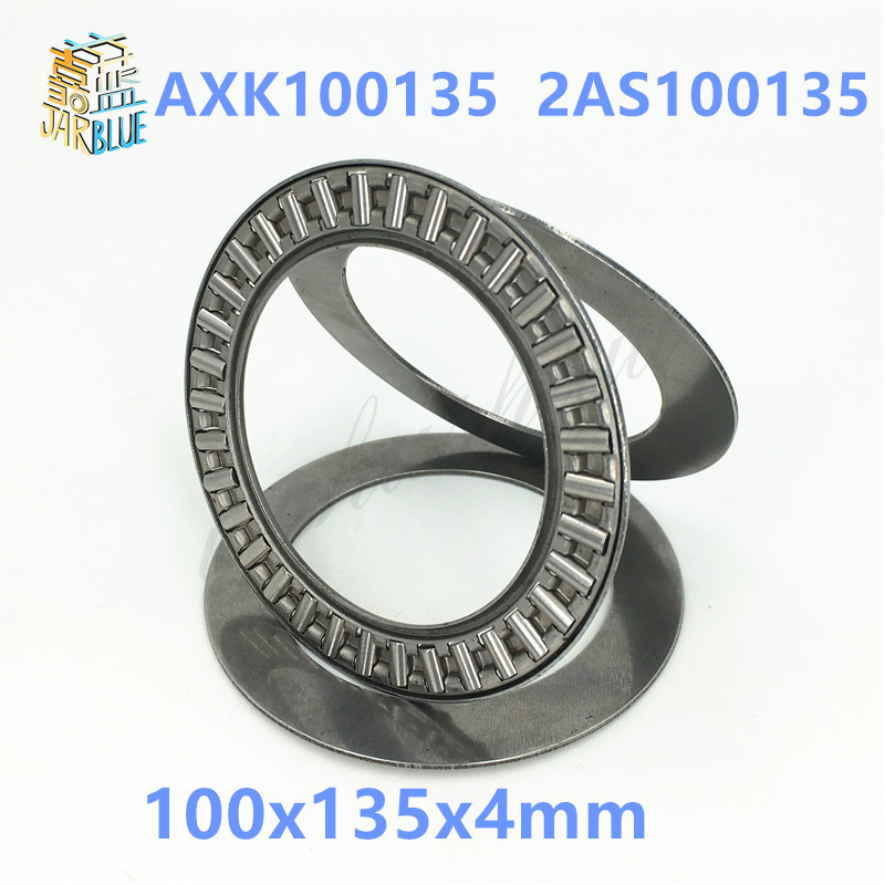 Free shipping 2pcs AXK series AXK100135  2AS100135 thrust needle roller bearing 100x135x4mm bearing  whosale and retail na4910 heavy duty needle roller bearing entity needle bearing with inner ring 4524910 size 50 72 22