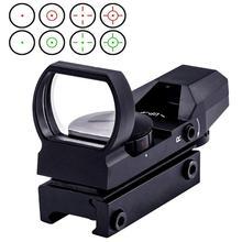 11/20mm Jagd Zielfernrohre Grün Red Dot Airsoft Optics Scope Sight Reflex 4 Absehen Tactical Gun Zubehör