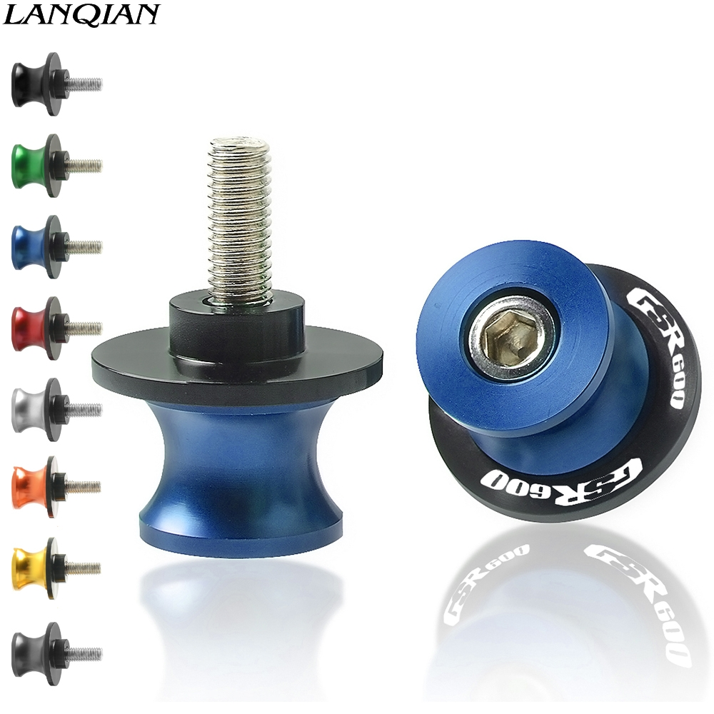 Motorcycle Spools Aluminum 8MM Swingarm Sliders Slider Swing Screw Stand Arm Drop For <font><b>SUZUKI</b></font> <font><b>GSR</b></font> <font><b>600</b></font> 2006 2007 <font><b>2008</b></font> 2009 2010 image