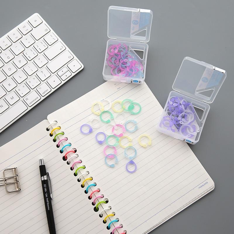 1 caja de colores anillo fácil libro de papel Carpeta de hoja suelta ...