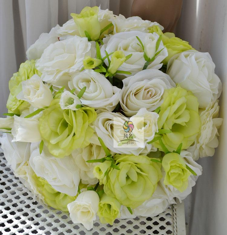 Hand make Silk Rose flower bridal bridesmaids wedding bouquet accessories decor