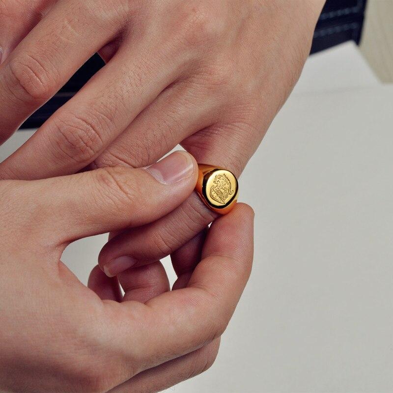 Kingsman anneau le Secret Service personnalisé chevalière anneaux pour hommes femmes Cosplay S925 argent couleur laiton couleur or gratuit graver Cool - 4