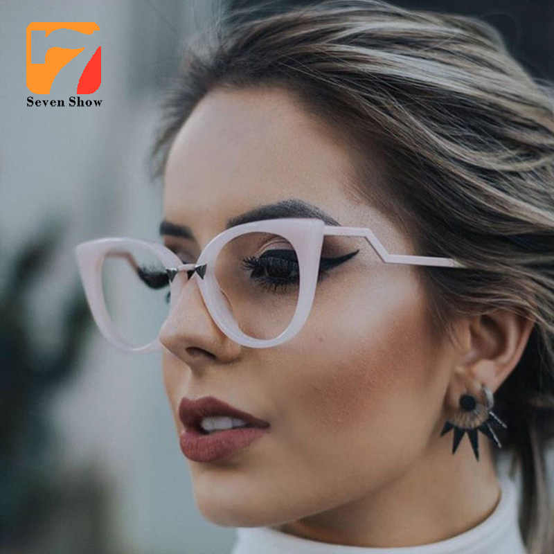 e307d1e6c9ca high quality Lady Cat Eye Glasses Frames For Women Brand Designer Optical  prescription Eye Glasses Metal