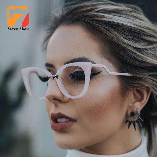 high quality Lady Cat Eye Glasses Frames For Women Brand Designer ...
