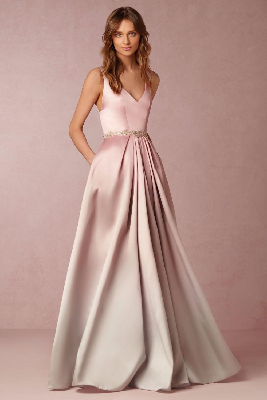 ab578158cbd8 2016 elegant long evening dress sexy v neck backless light pink ...
