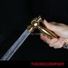 Высококачественный роскошный золотой Латунный итальянский дизайн высокое давление мини мусульманский душ Shattaf Душ спрей портативный биде опрыскиватель