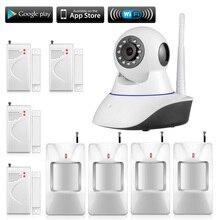 2017 Nueva Cámara de Seguridad de Alta Calidad HD 720 P Cámara IP Inalámbrica Wifi IR CUT Cámara y sensor de puerta a distancia control