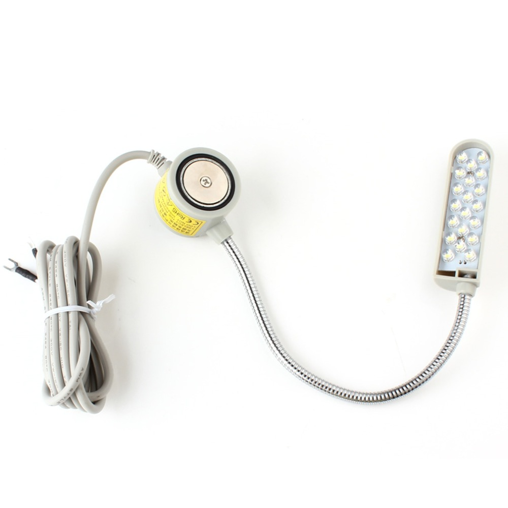Sale Energy-Saving 220V Sewing Machine Super Bright White 20-LEDs Magnetic Mounting Base Flexible Gooseneck LED Light Lamp