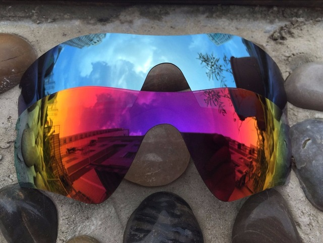9ef027dcde 2Pairs Purple Red  Sky Blue Polarized Replacement Lenses for Radar Path Sunglasses  Lens Only