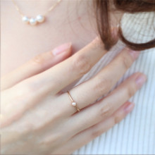 Dainty Ring for Women Opal Simple Ring