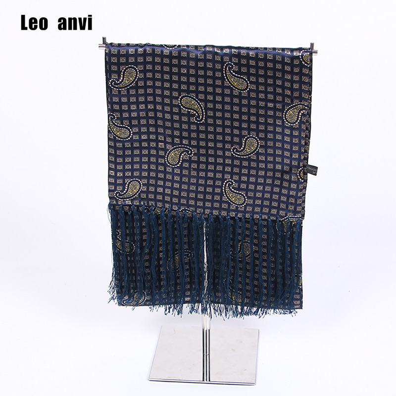 Navy Scarf Scooter Ascot Twill Paisley Retro Soft Luxury Mens Cravat UK Silk Mod title=