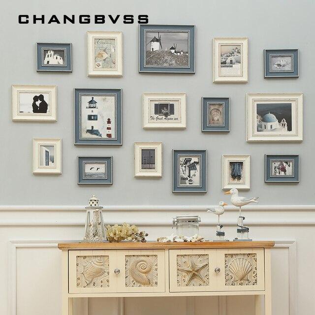 New European Style 16 pcs/set Wall Hanging Photo Frame,Vintage Picture Frames Combination for Home Decor,Porta Retrato Moldura