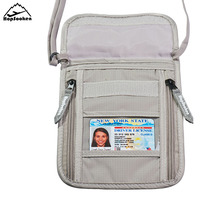 Hopsooken Travel Neck Pouch Passport Holder With Rfid Blocking Passports Paper Works Phone Protecting Organizer
