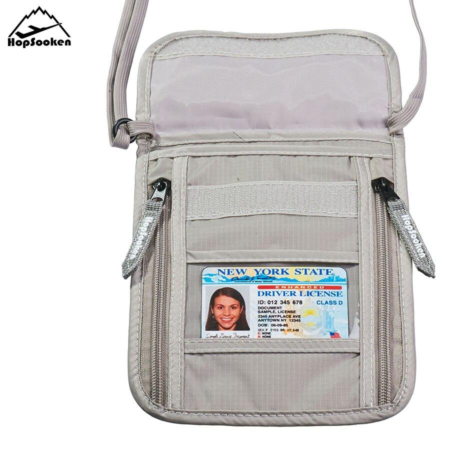 Hopsooken Travel Neck Pouch Bag Passport Holder Rfid Organizer Accessories Bag 100% Waterproof Quality Nylon Neck Pouch HS167