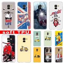 3D Vespa Scooter Case For Samsung Galaxy A8 A6 Plus A9 A5 A3 A7 2018 2017 2016 A50 A30 A40 A70 A10 A2 CORE Soft(China)