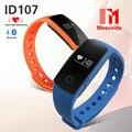 Nueva ID107 Smartband ID 107 Inteligente Bluetooth Monitor de Ritmo Cardíaco Reloj Del Deporte Pulsera de Silicona de la Frecuencia Cardíaca Con Rastreador