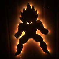 Dragon ball 3D Led Wall Lamp Night Light Vegeta Creative Action Figure Dragon Ball Lighting Toy For Kids