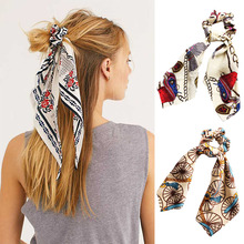 Модный женский шарф для волос с бантом, резинка для волос, держатель для волос, резинка для волос, эластичные резинки для волос, аксессуары для волос для девочек