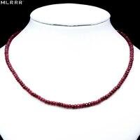 Vintage Klassische Naturstein Schmuck Edle Tiefe Rot Rubinen Perlen Kette Halsband Halskette