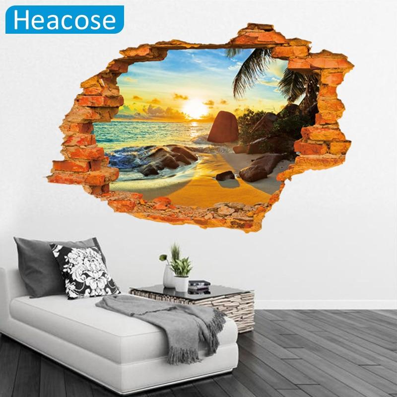 Creative 3D sticker Wall Sticker 60*90CM Paster Art Home Decor Livingroom Bedroom background stickers