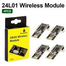 4 шт. NRF24L01 2,4 ГГц беспроводной приемопередатчик радиочастотный приемопередатчик модуль с Keyestudio упаковочная коробка для Arduino