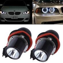 2017 10W LED Angel Eye Halo Light For BMW E39 E60 5-Series M5 X5 E53 E63 E65 X3 6000K  Dropping Shipping