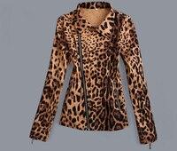 Wholesale drop ship women's plus size clothing jacket leopard pattern cropped xxxl 5xl large high street fashion vintage design