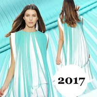 Europe And The Big Blue Chiffon Organ Runway Chiffon Skirt Fabric Dyeing Summer Clothing Fold
