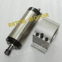 Cnc Kit de broche 1.5KW refroidi à l'eau moteur de broche de ER16 gravure MILLING GRIND & 80 mm pince