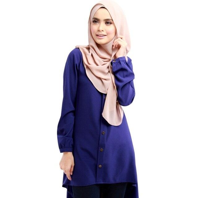 Этнические характеристики Женщины Длинные Топы Рубашка Islimic Носить Кафтан Ближний Восток Shirt Мусульманскую Одежду