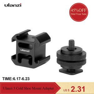 Ulanzi 3 Cold Shoe On-Camera Mount Adapter for Canon Nikon LED Video Light