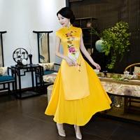 New Arrival Chinese Style Long Cheongsam Fashion Red Women's Rayon Dress Elegant Qipao Vestido Size S M L XL XXL XXXL 1457205